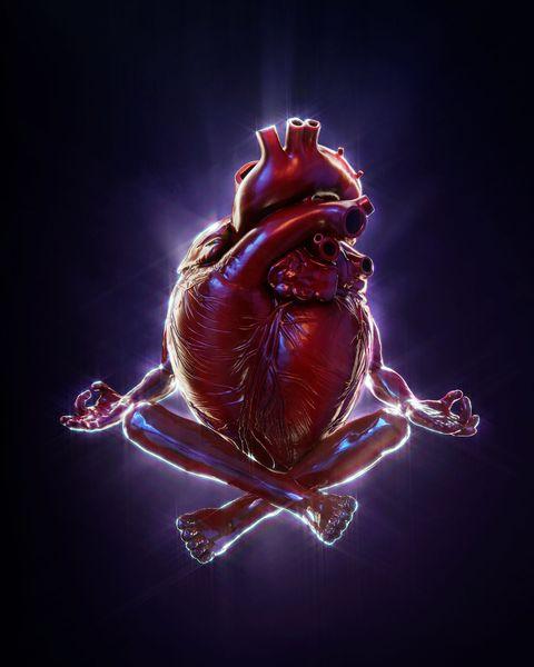 meditating heart