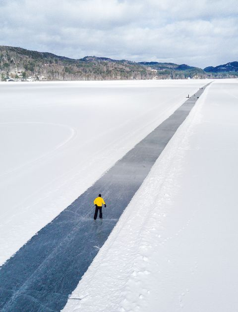 man in icy landscape