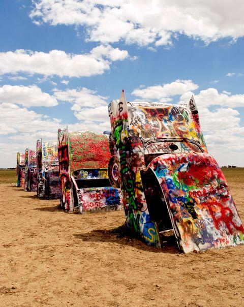 cars in the desert