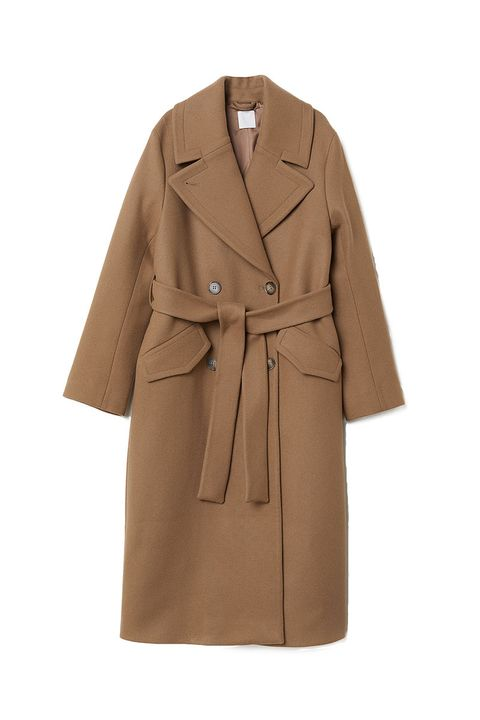 H&M wool classic camel coat - H&M brown wool coat