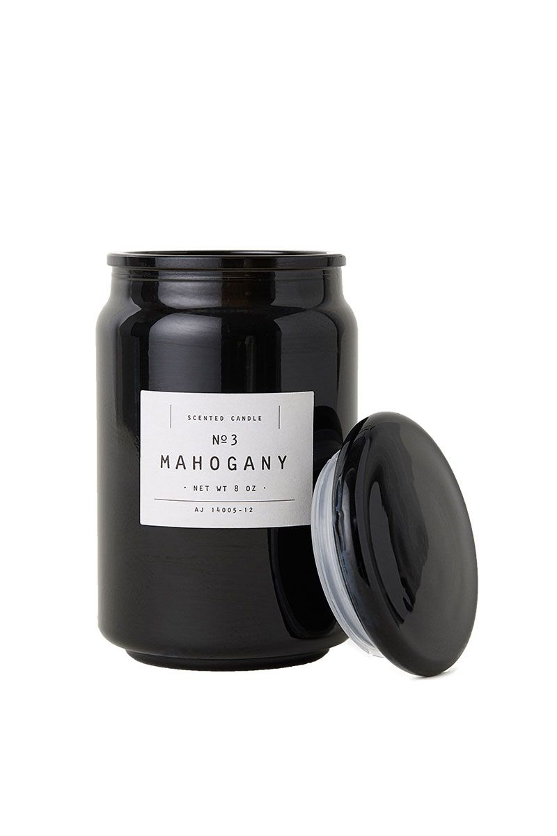 black mahogany scented candle