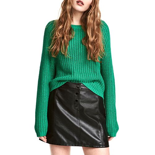 h&m ribbed green sweater