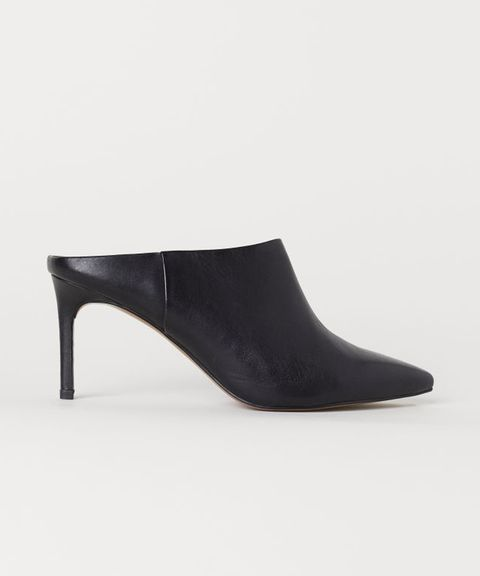 H&M  Leather mules £49.99