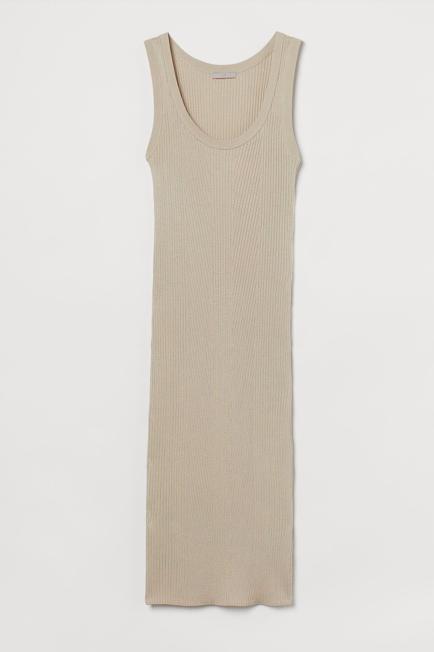 nude jurk
