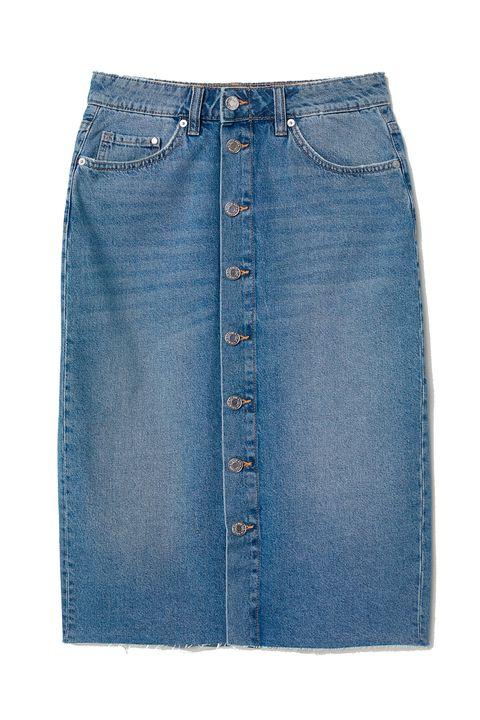 Denim, Jeans, Clothing, Blue, Pocket, Fashion, Pencil skirt, Textile, Button, Shorts,