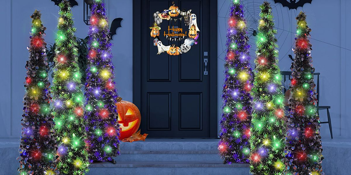 This 5-Foot-Tall Black Tree Can Go Inside Or Outside to Stand Out Among Your Halloween Decorations