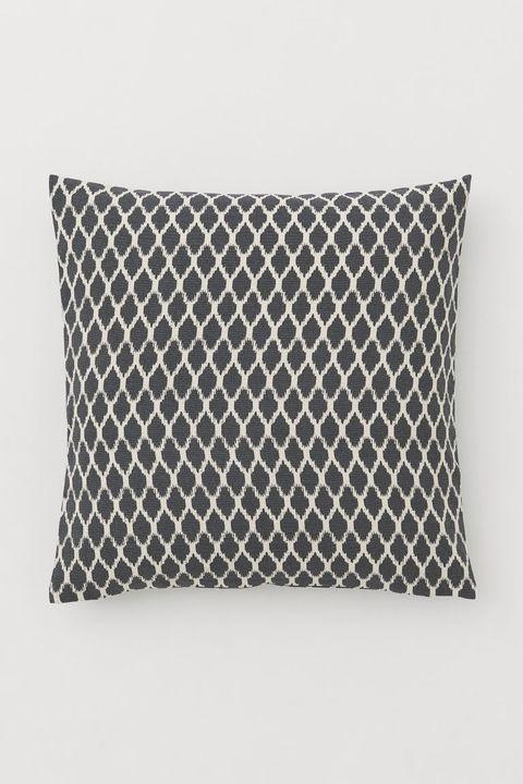White, Pillow, Cushion, Throw pillow, Furniture, Rectangle, Pattern, Linens, Textile, Design,