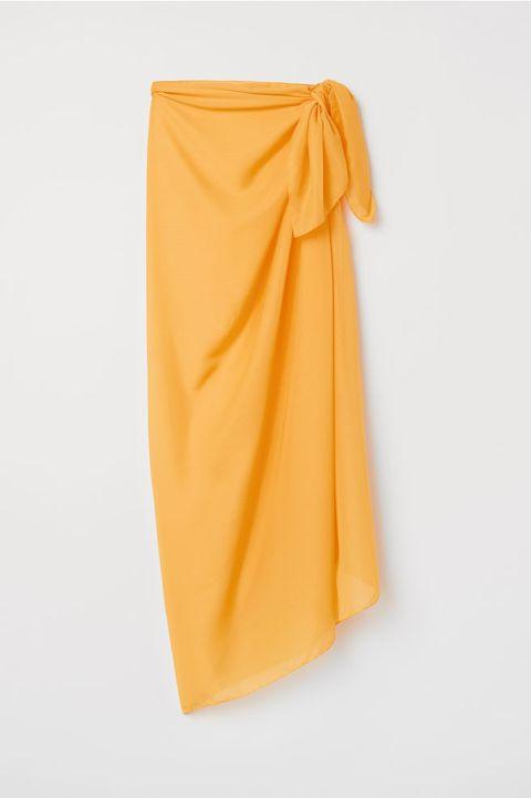 Clothing, Orange, Yellow, Textile, Silk, Trousers, Wrap, Sarong,