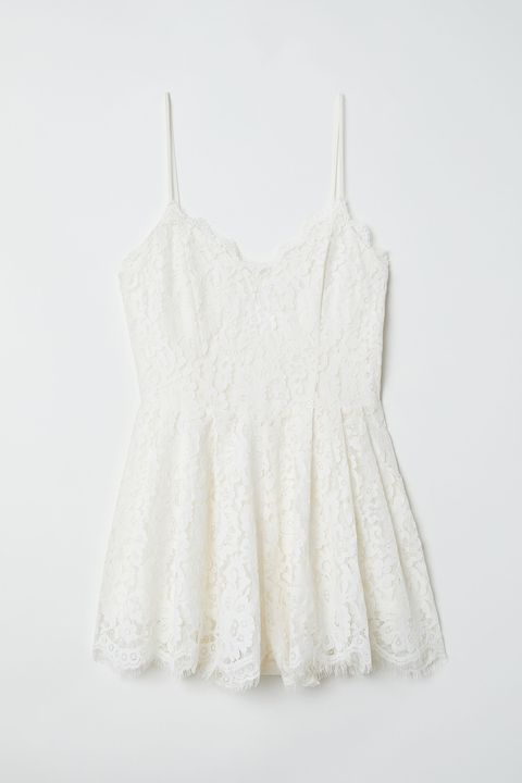 White, Clothing, Dress, Lace, Outerwear, camisoles, One-piece garment, Day dress, Blouse, Beige,