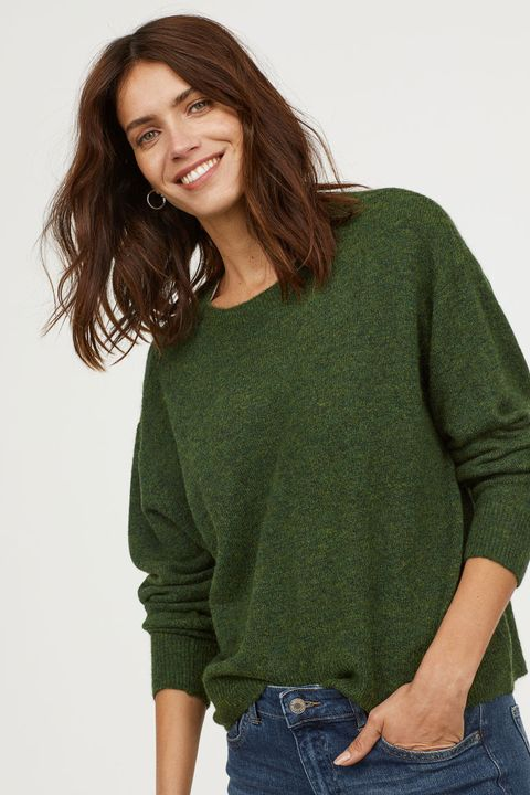8a6803f8c4 Best winter jumpers. H M. Dark Green Knitted Jumper