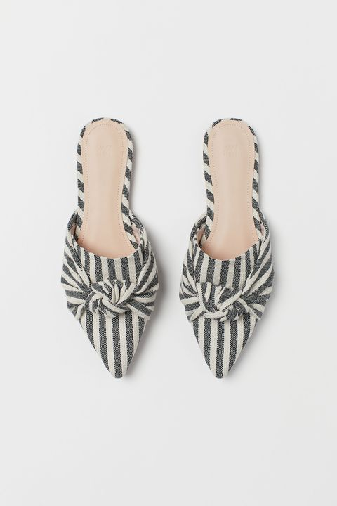 H&M striped mules