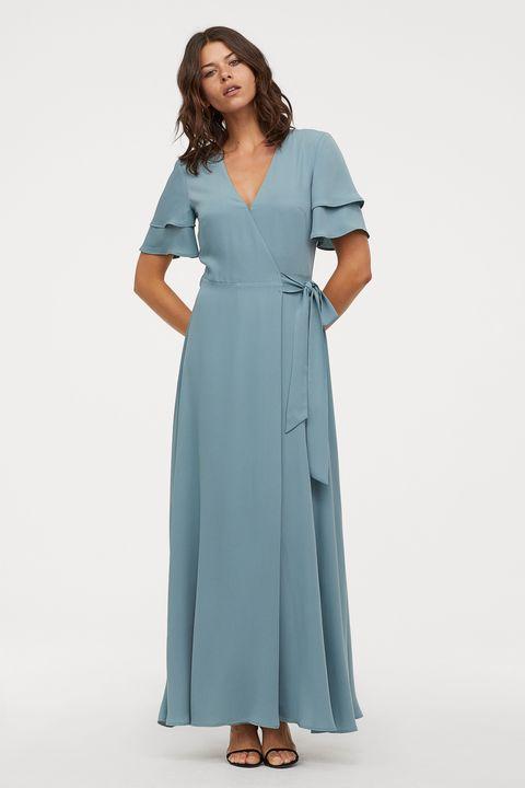 H&M wrap maxi dress