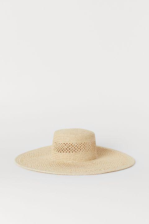 H&m wide brim straw hat