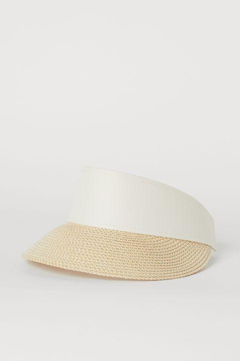 heatwave dressing - straw sun visor H&M