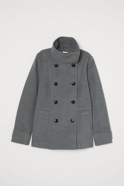 Clothing, Outerwear, Sleeve, Coat, Overcoat, Jacket, Grey, Woolen, Collar, Beige,