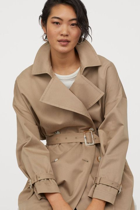 Clothing, Trench coat, Coat, Outerwear, Skin, Khaki, Beige, Overcoat, Jacket, Sleeve,