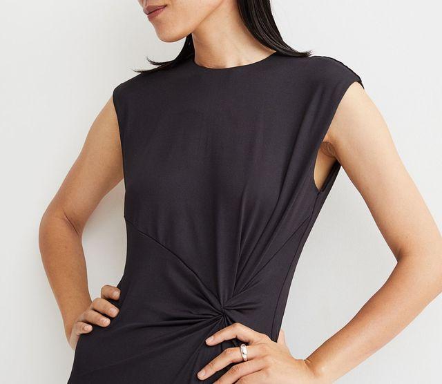 vestido nudo negro