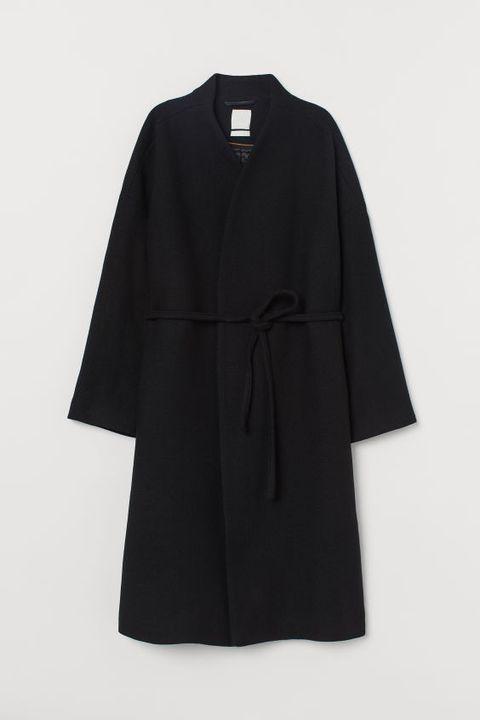 Clothing, Black, Outerwear, Sleeve, Robe, Coat, Overcoat, Costume, Dress,