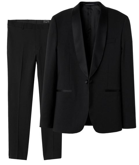 Clothing, Suit, Outerwear, Black, Blazer, Formal wear, Jacket, Tuxedo, Button, Sleeve,