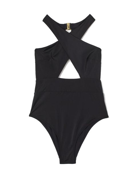 black swimsuit high leg £2499 hm