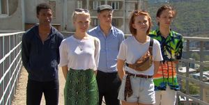 Holland's Next Top Model's Marcus, Silke, Benjamin, Lenny en Jay in aflevering 13