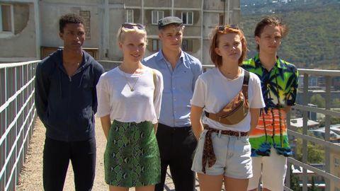 Holland's Next Top Model's Marcus, Silke, Benjamin, Lenny en Jay in aflevering 13