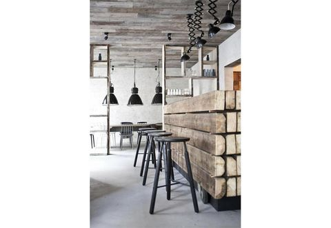 Interior design, Light fixture, Iron, Chandelier, Monochrome photography, Interior design, Black-and-white, Ceiling fixture, Stool, Plywood,