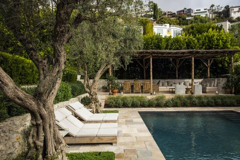 hoffman and ospina west hollywood garden pool area