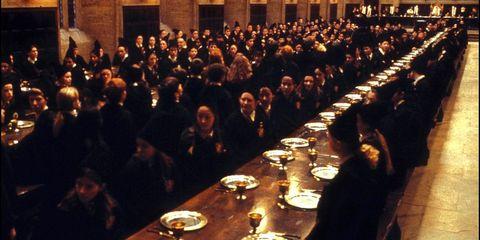 Hogwarts dining hall