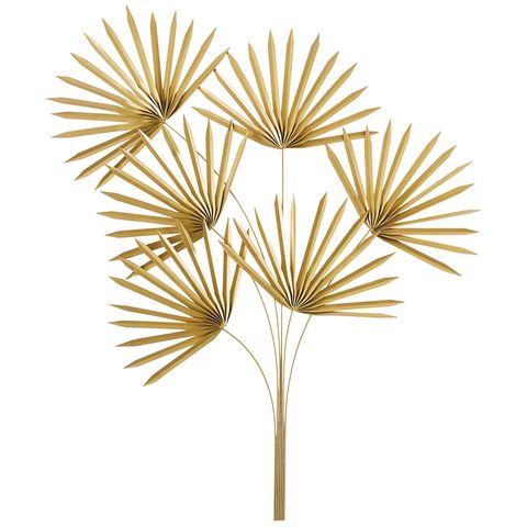 Hojas de palma doradas decorativas