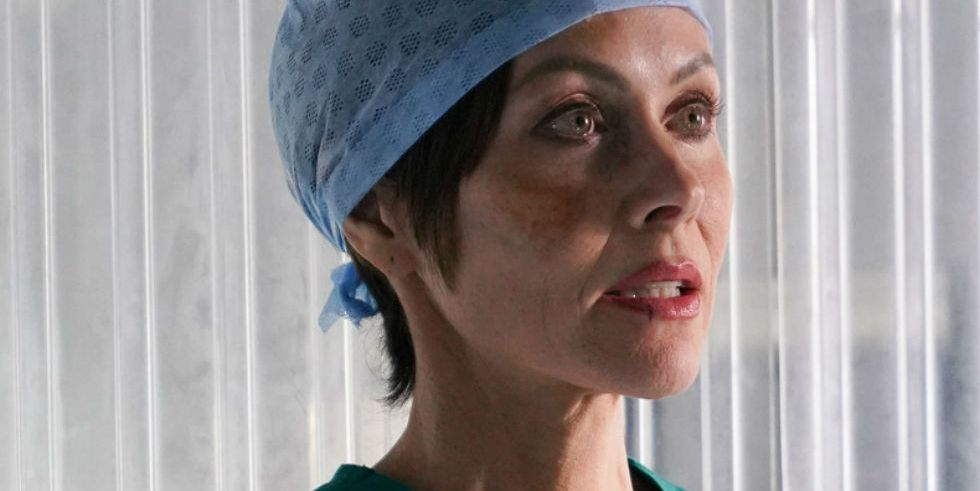 Connie Beauchamp in the Casualty and Holby City crossover