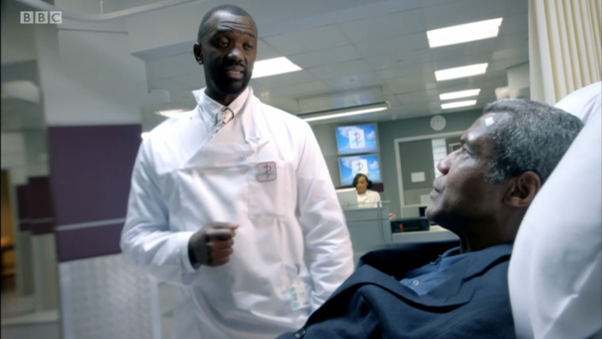 """Holby City viewers find Ric Griffin's episode """"trippy"""" after he survives brain surgery"""