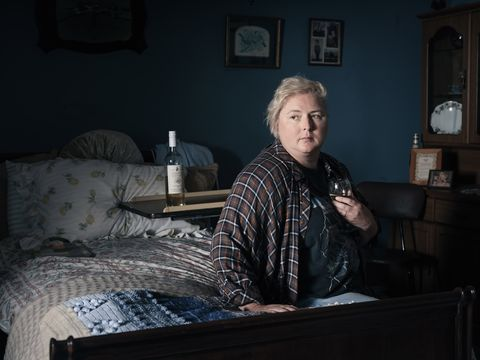 """siobhan mcsweeney as brid in itv drama """"holding"""", photographed by conor horgan"""