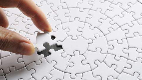 witte puzzel klaar