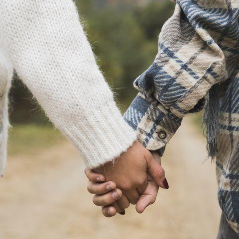 holding hands can help release oxytocin