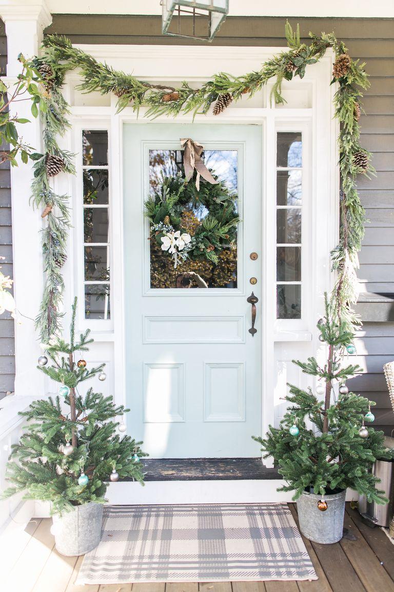 dekorasi depan rumah pintu masuk natal entrance christmas decor