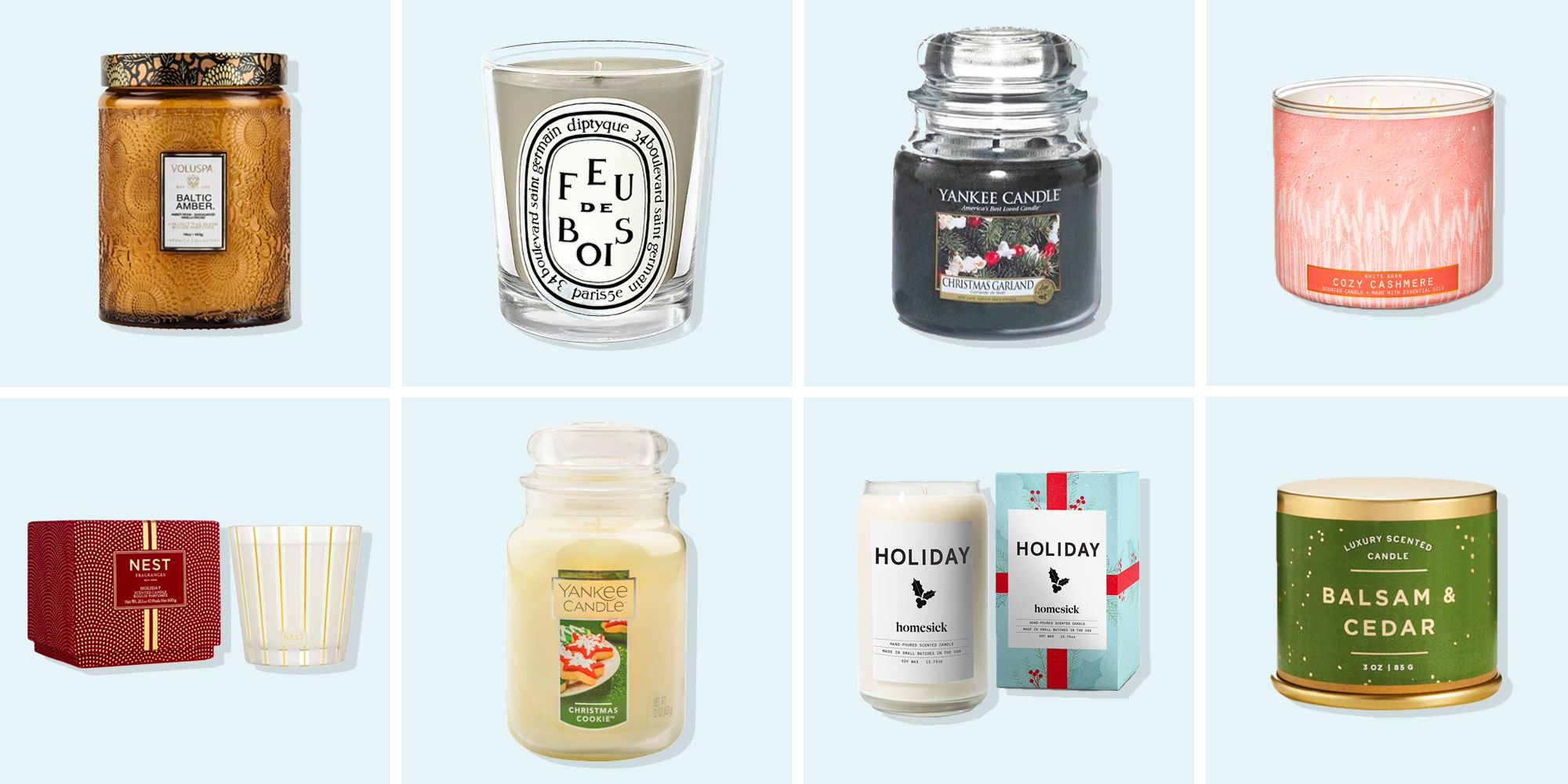 20 Best Christmas Candles 2020 Holiday Scented Candles