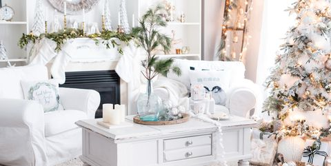 holiday decor small space - How To Decorate A Small Living Room For Christmas