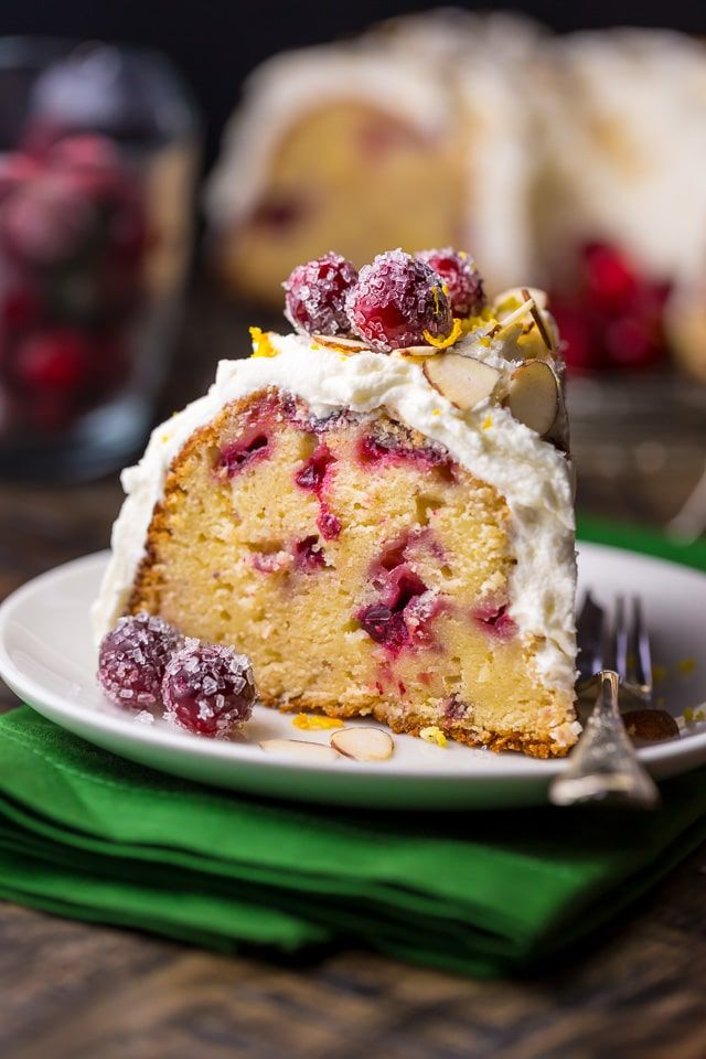 Christmas Desserts, White Chocolate Cranberry Bundt Cake