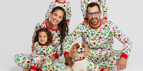 target is selling matching holiday pajamas for the whole family including your dog