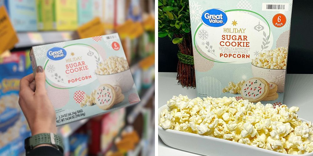 You Can Get Sugar Cookie-Flavored Popcorn at Walmart for the Holidays
