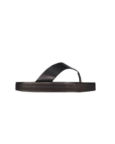atp atelier black melitto leather flatform sandals   £245
