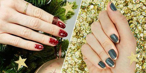 Tricks for painting nails nail art hacks 7 gorgeous holiday nail art looks prinsesfo Choice Image