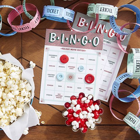 holiday movie bingo printable