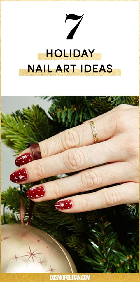 7 Holiday Nail Art Ideas for 2017 - DIY Christmas Nail Art Tutorials