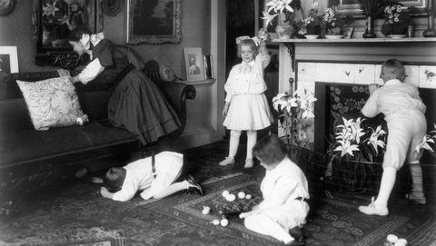 Children Searching for Easter Eggs
