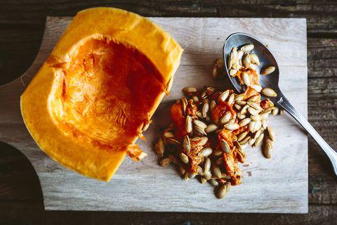 hollowed pumpkin