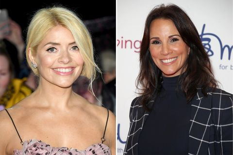 Holly Willoughby Andrea McLean pink Mango dress