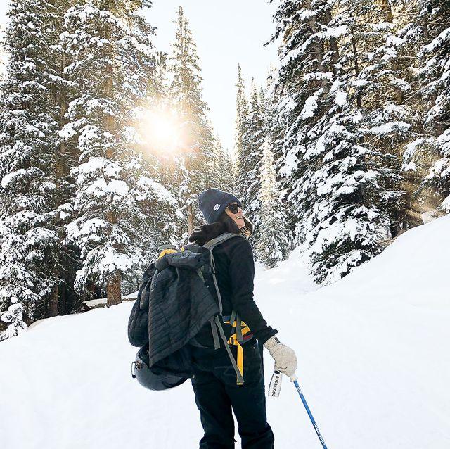 Snow, Winter, Mountaineer, Footwear, Tree, Freezing, Recreation, Snowshoe, Adventure, Mountaineering,
