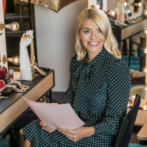 holly willoughby gives a new twist on the leather trend